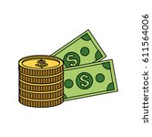 cash money icon image  | Shutterstock .eps vector #611564006
