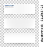 web banner with 3 different... | Shutterstock .eps vector #611568428