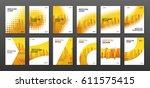 brochure cover design layout... | Shutterstock .eps vector #611575415