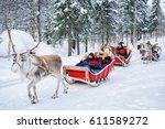 rovaniemi  finland   march 5 ... | Shutterstock . vector #611589272