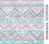 ethnic seamless pattern. grunge ... | Shutterstock .eps vector #611591126