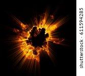 glint abstract neon background. ... | Shutterstock . vector #611594285