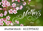 mothers day greeting card....   Shutterstock .eps vector #611595632