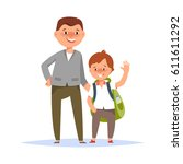 vector illustration of father... | Shutterstock .eps vector #611611292