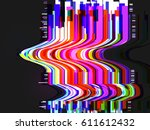 creative glitched abstract... | Shutterstock .eps vector #611612432