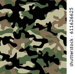 camouflage pattern background... | Shutterstock .eps vector #611626625