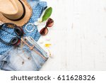 woman's casual summer clothes...   Shutterstock . vector #611628326