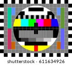 tv test card with rainbow multi ... | Shutterstock .eps vector #611634926