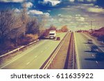 different cars in the highway... | Shutterstock . vector #611635922