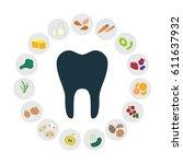 vector illustration of healthy... | Shutterstock .eps vector #611637932