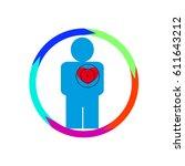 vector illustration. the emblem ... | Shutterstock .eps vector #611643212