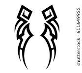 tattoo sketch tribal vector...   Shutterstock .eps vector #611649932