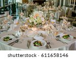 classy wedding setting.table... | Shutterstock . vector #611658146