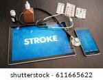 stroke  neurological disorder ... | Shutterstock . vector #611665622
