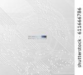 vector circuit board... | Shutterstock .eps vector #611666786