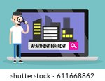 looking for an apartment for... | Shutterstock .eps vector #611668862