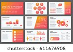 big infographics in modern... | Shutterstock .eps vector #611676908