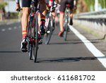 cycling competition race at... | Shutterstock . vector #611681702