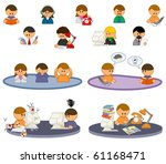 set of funny vector people icons   Shutterstock .eps vector #61168471