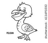 Coloring book for children, Pelican