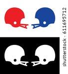 vector football helmet matchup | Shutterstock .eps vector #611695712