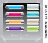 mega vector buttons | Shutterstock .eps vector #61170418