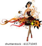 vector girl | Shutterstock .eps vector #61171045
