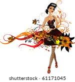 vector girl | Shutterstock .eps vector #61171045