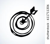 cockshot mark board for archer... | Shutterstock .eps vector #611711306