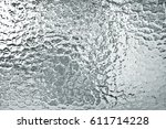 Gray Corrugated Glass Texture