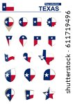 texas flag collection. big set... | Shutterstock .eps vector #611719496