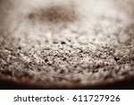 plain chocolate cake with no... | Shutterstock . vector #611727926