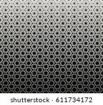 geometric triangle halftone... | Shutterstock .eps vector #611734172