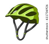 protective helmet for cyclists. ...   Shutterstock . vector #611736926
