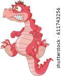 baby dragon cartoon    Shutterstock .eps vector #611743256