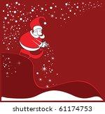new year winter christmas card... | Shutterstock .eps vector #61174753
