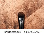 black beauty brush on glowing... | Shutterstock . vector #611762642