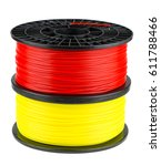 two abs or pla filament coils... | Shutterstock . vector #611788466