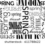 vector art vintage word pattern ... | Shutterstock .eps vector #611788622