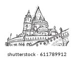 bastion with details on the... | Shutterstock .eps vector #611789912