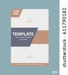flyer concept brochure template ... | Shutterstock .eps vector #611790182