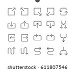 arrows ui pixel perfect well... | Shutterstock .eps vector #611807546