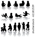 vector children silhouettes | Shutterstock .eps vector #61181539