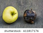 Fresh Apple And Rotten Apple...