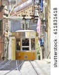 lisbon  portugal   may 2010 ...   Shutterstock . vector #611831618