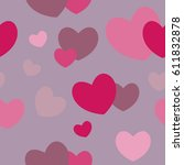 colorful hearts seamless... | Shutterstock .eps vector #611832878