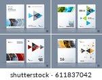 business vector template.... | Shutterstock .eps vector #611837042