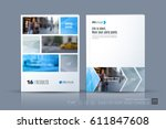 business vector template.... | Shutterstock .eps vector #611847608