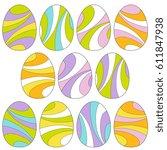 Mod Swirl Easter Eggs