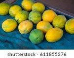 farmer's market on the north... | Shutterstock . vector #611855276